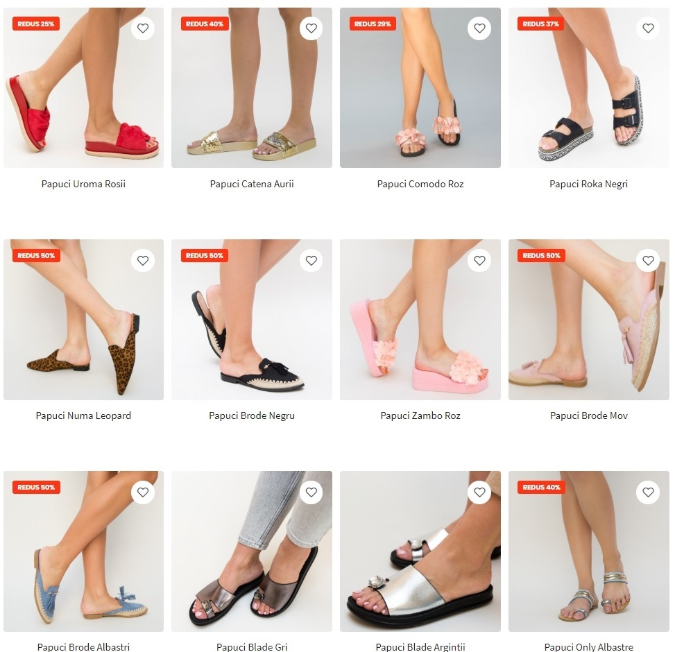 papuci depurtat