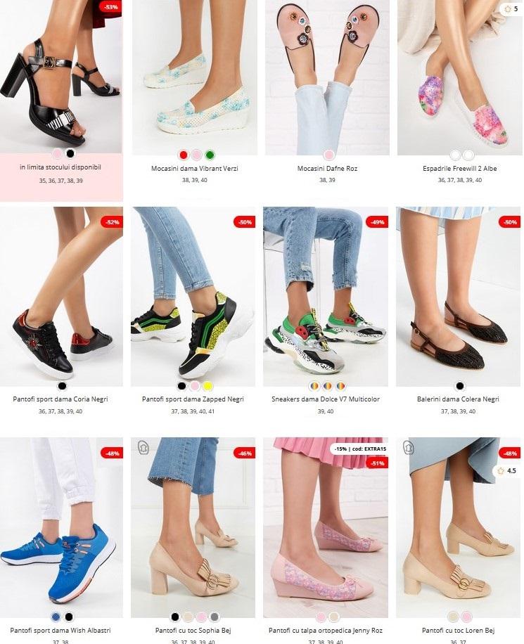 lichidari stoc incaltaminte zapatos